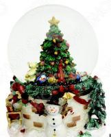 Снежный шар музыкальный Crystal Deco «Новогодняя елка»