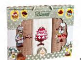 Комплект из 3-х кухонных полотенец Dinosti «Торт»