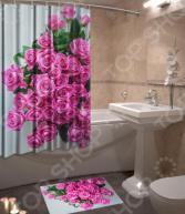 Набор для ванной комнаты: шторка и коврик ТамиТекс «Презент»