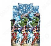 Детский комплект постельного белья Непоседа «Мстители»