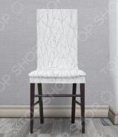 Комплект натяжных чехлов на стул Еврочехол «Ванесса». Рисунок: магнолия