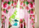 Шторы для кухни «Розовая арка»