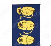 Обложка для автодокументов Mitya Veselkov «Три мудрых обезьяны на синем»