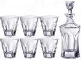 Набор для виски: штоф и стаканы Crystalite «Аполло» 669-215