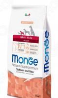 Корм сухой для собак мелких пород Monge Natural Superpremium Mini Adult Salmon and Rice