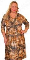 Платье Klimini «Климента». Цвет: коричневый