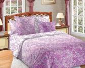 Комплект постельного белья Королевское Искушение «Дыхание весны». Цвет: сиреневый. Семейный