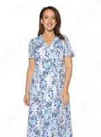 Платье «Искрометная женщина». Цвет: белый, синий