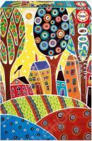Пазл 500 элементов Educa «Пейзаж с домиками, Карла Жерар»