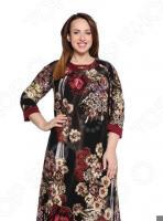 Платье Лауме-Лайн «Прекрасная жизнь». Цвет: бордовый