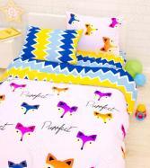 Детский комплект постельного белья Сирень «Лисы»