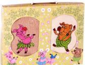 Комплект из 2-х кухонных полотенец Dinosti «Танцующие Поросята»