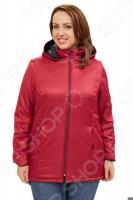 Куртка СВМ-ПРИНТ «Снежная леди». Цвет: брусничный
