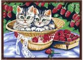 Набор для рисования по номерам «Белоснежка» Котята в саду