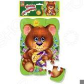 Пазл магнитный Vladi Toys «Медвежонок»