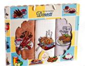 Комплект из 3-х кухонных полотенец Dinosti «Горячее»