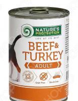 Корм консервированный для собак Nature's Protection Adult Beef & Turkey «Говядина & Индейка»