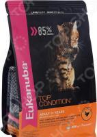 Корм сухой для кошек Eukanuba Top Condition с домашней птицей