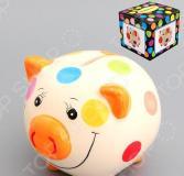 Копилка Elan Gallery «Свинюшка в разноцветный горошек»