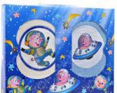 Комплект из 2-х кухонных полотенец Dinosti «Поросята в космосе»