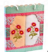 Комплект из 2-х кухонных полотенец Dinosti «Цветочный»