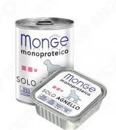 Корм консервированный для собак Monge Monoproteico Solo «Паштет из ягненка»
