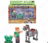 Набор фигурок игрушечных Minecraft «Алекс с скелетом лошади»