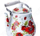 Чайник эмалированный Mayer&Boch «Розы». Объем: 5 л