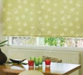 Рулонная штора Эскар «Одуванчик». Цвет: зеленый