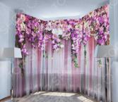Фототюль ТамиТекс «Ламбрекен из цветов»
