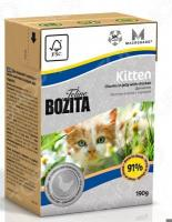 Корм консервированный для котят и беременных кошек Bozita Kitten Chunks in Jelly with Chicken