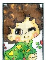 Набор для вышивания крестиком RTO «Влюбленный мальчуган»