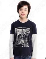 Лонгслив для мальчика Finn Flare Kids KB17-81028. Цвет: темно-синий