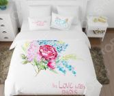 Комплект постельного белья Сирень «С любовью из Парижа». Семейный
