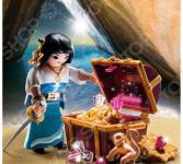 Конструктор игровой Playmobil «Экстра-набор: Пират с сокровищами»