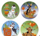 Доска разделочная Мультидом «Собака на празднике» VL88-346. В ассортименте