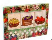 Комплект из 3-х кухонных полотенец Dinosti «Урожай фруктов»