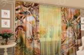 Фотокомплект: тюль и шторы ТамиТекс «Змеиная кожа»