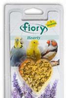 Камень минеральный для птиц Fiory с лавандой в форме сердца Hearty