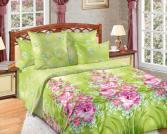 Комплект постельного белья Королевское Искушение «Утренняя роса». Цвет: салатовый. Семейный