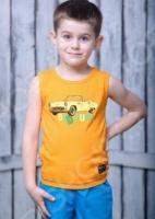 Майка для мальчика Detiland SS15-UET-BTP-904. Цвет: оранжевый
