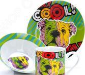 Набор посуды для детей Loraine LR-27125 «Собачка»