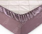 Простыня на резинке ТексДизайн «Текстура». Цвет: шоколадный