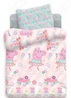 Ясельный комплект постельного белья Непоседа Peppa Pig «Пеппа балерина»