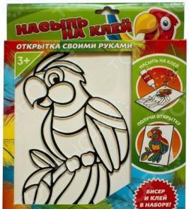 Набор для изготовления аппликаций Татой «Насыпь на клей. Попугай»