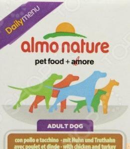 Корм консервированный для собак Almo Nature DailyMenu Adult with Chicken and Turkey