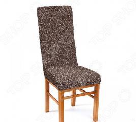 Натяжной чехол на стул Еврочехол «Плиссе. Мускат»