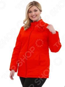 Куртка Гранд Гром «Тонкий вкус с воротником». Цвет: красный