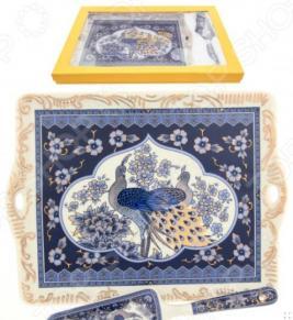 Поднос с лопаткой Elan Gallery «Павлин синий»
