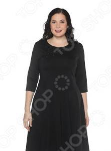 Платье Blagof «Сияние сердца» с мерцающим декором. Цвет: черный